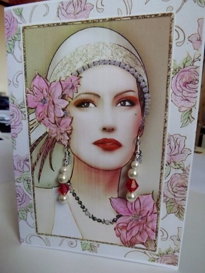 Pearl and crystal earring card £8 - Creative Connections