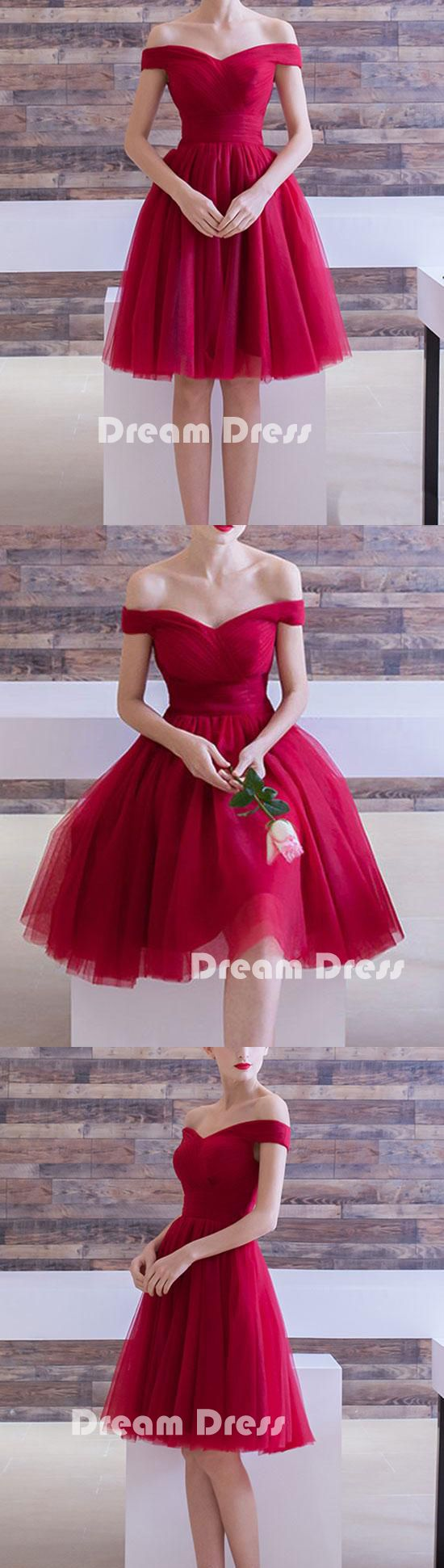 Off shoulder short prom dress, Cheap homecoming dresses,PD210004 #promdress #fashion #shopping #dresses #evening