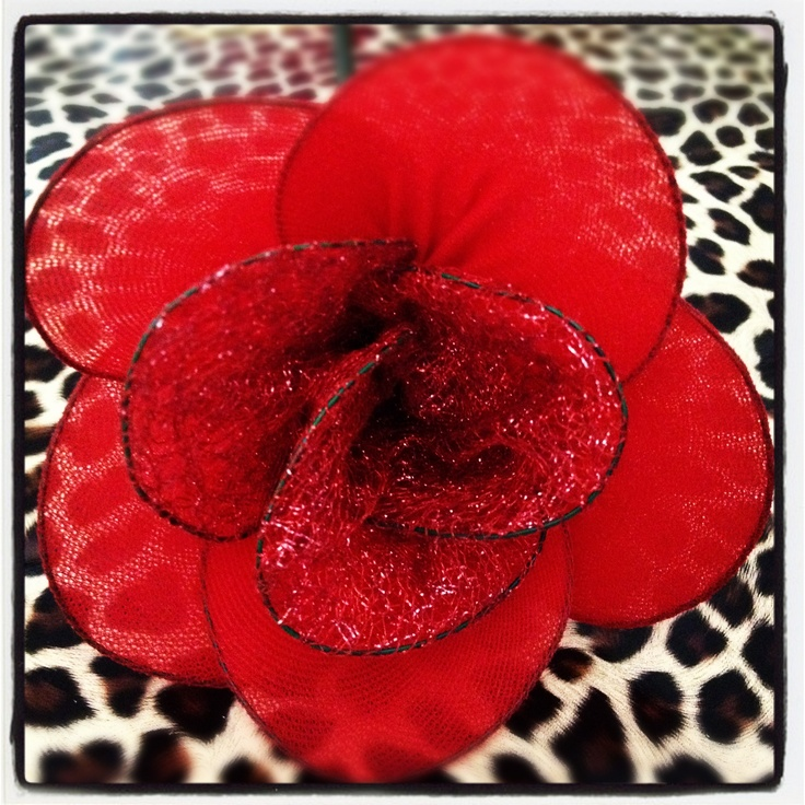 nylon flower from pantyhose