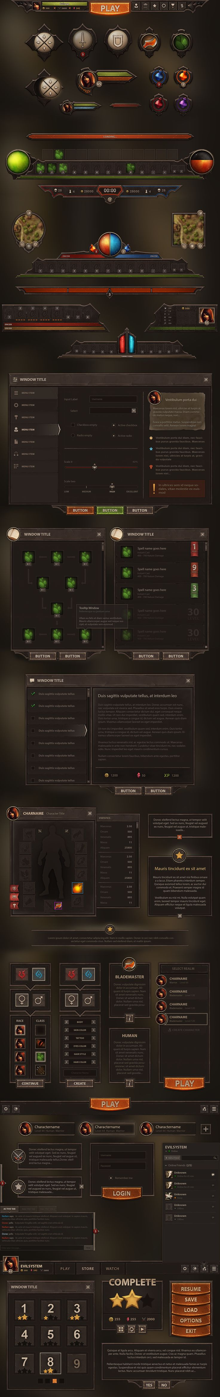 Burnblade UI by Evil-S on DeviantArt