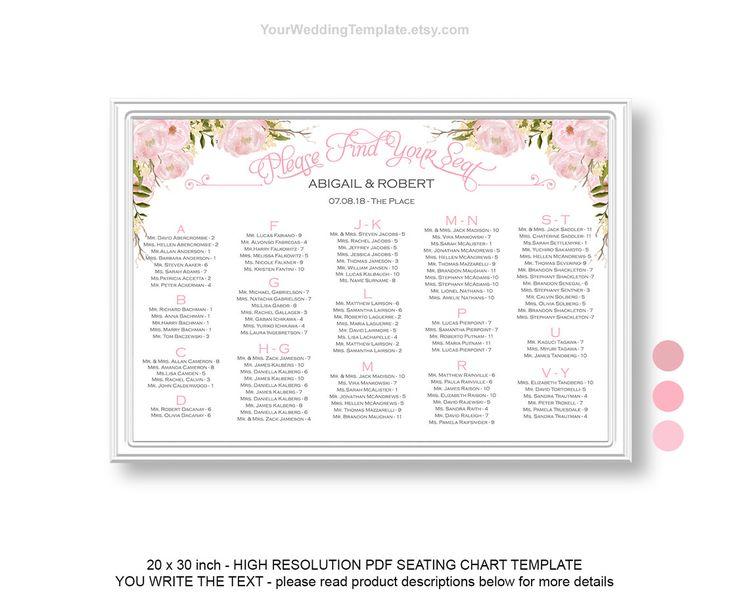 25+ parasta ideaa Pinterestissä Seating chart wedding template - seating chart templates