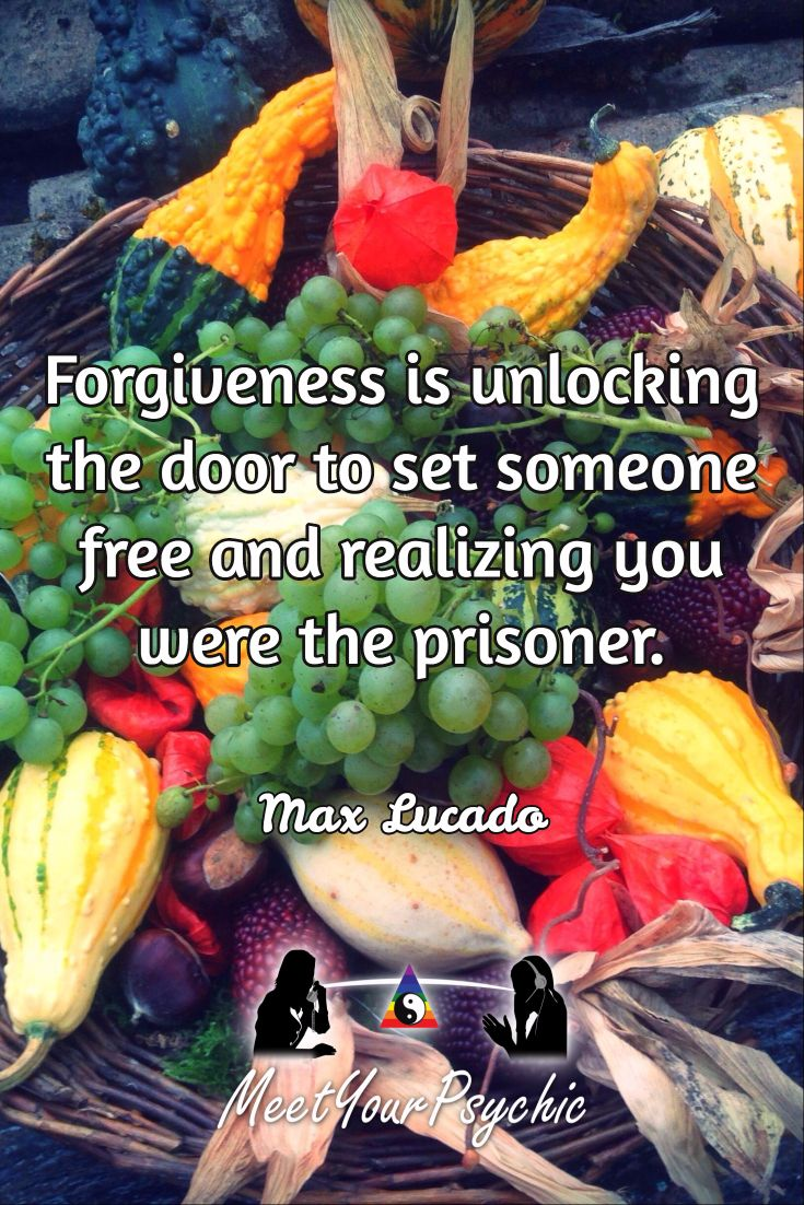 Forgiveness is unlocking the door to set someone free and realizing you were the prisoner. Max Lucado. Psychic Phone Reading 18779877792 #psychic #love #follow #meetyourpsychicreviews #meetyourpsychic https://meetyourpsychic.com/welcome1