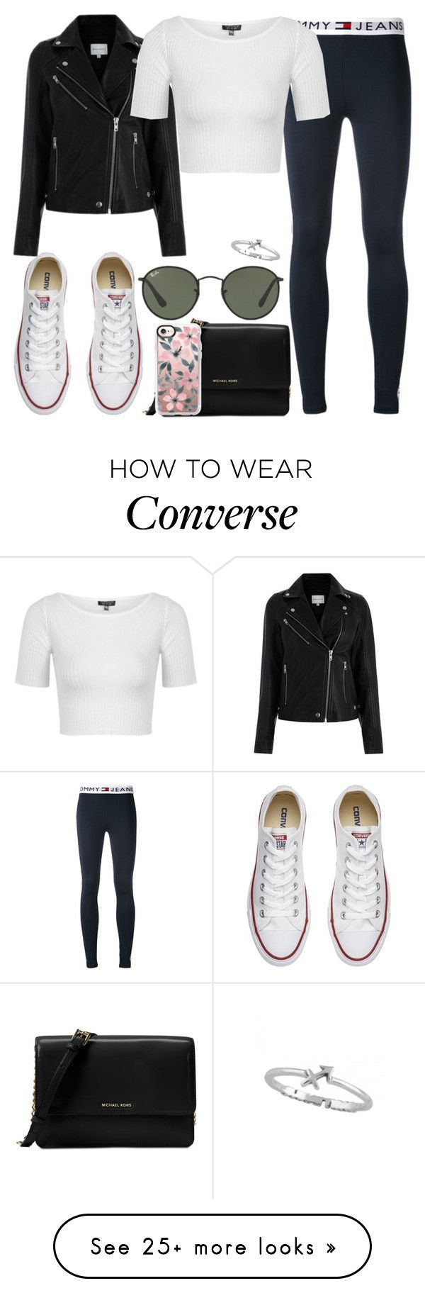 """Untitled #303"" by findthefinerthings on Polyvore featuring Tommy Hilfiger, Michael Kors, Casetify, Converse, Topshop and Ray-Ban"