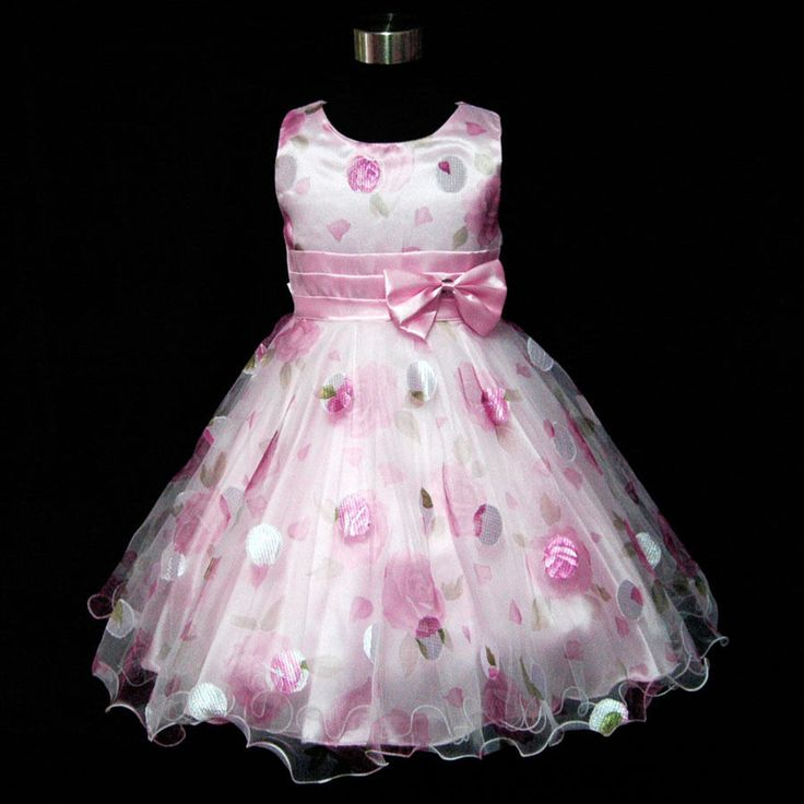 P3211 Pinks Princess Wedding Party Flowers Girls Pageant Dress SIZE 3,4,5,6,7,8Y #nicetops