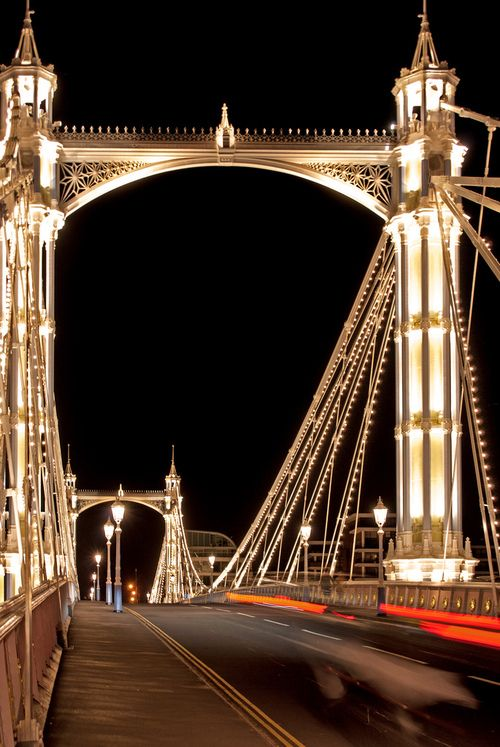 Ponte Albert, Chelsea, Londres.  Por  laurencemackman.