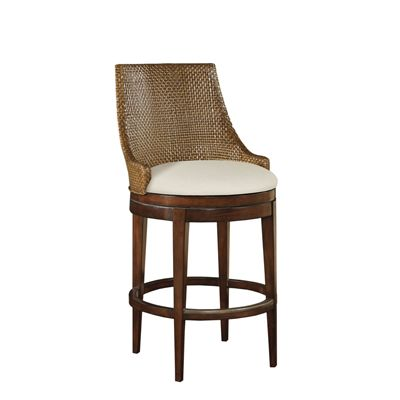 Swivel Woven Leather Counter Stool Barstools Pinterest