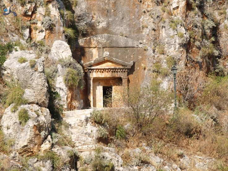 Lycian Rock Tomb, Kastelorizo Island, Greece