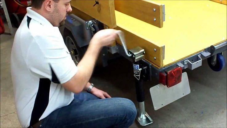 Power Folding Utility Trailer - YouTube