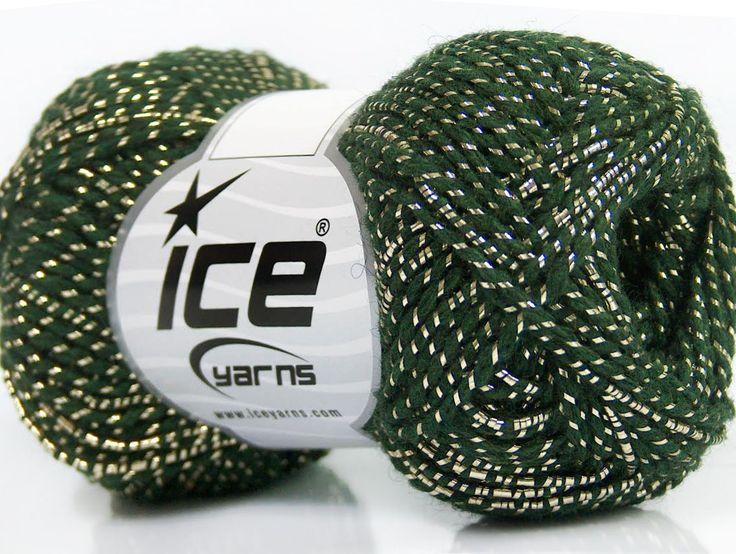 Metalik - Simli İplikler Simli Lüks Alpaka Viskon Altın Koyu yeşil  İçerik 36% Akrilik 19% Metalik Simli 16% Yün 16% Alpaka 13% Viskon Brand ICE Gold Dark Green fnt2-41416