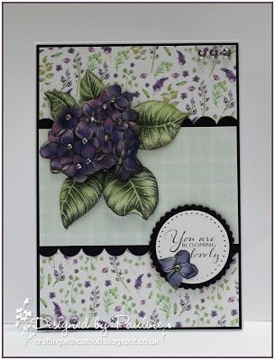 Crafting with Cotnob, Clearly Besotted, Craftwork Cards, Craftwork Cards Ultra Violet Flora, Decoupage, Floral, Spellbinders
