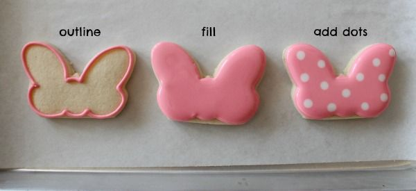 Tutorial~Minnie Mouse Bow Cookies