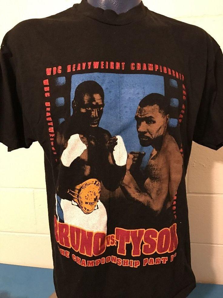 Vintage 1990's Frank Bruno Vs Mike Tyson 3/16/96 Fight Promo T-shirt Size XL   | eBay