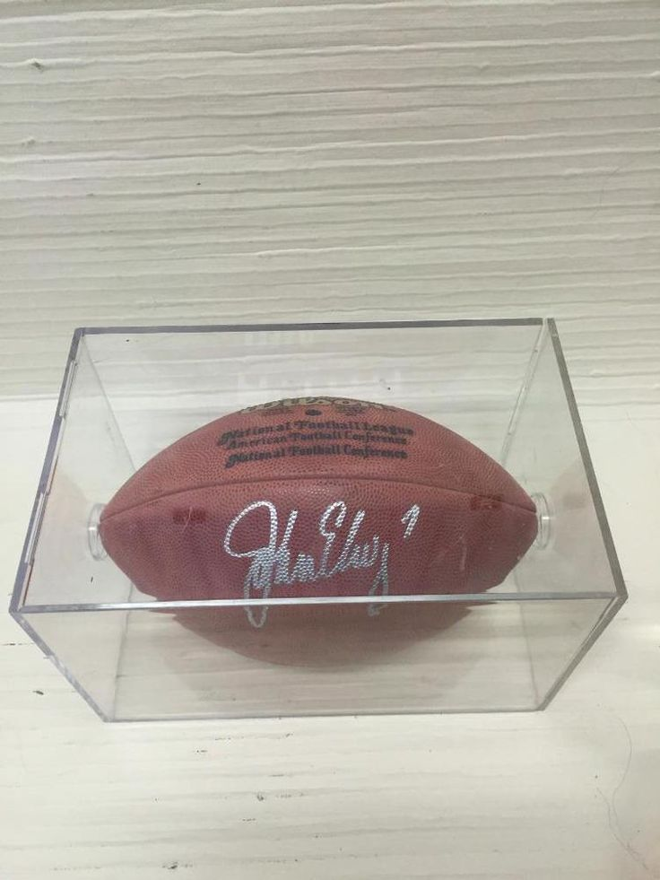 John Elway Autographed Signed  Football ~WILSON FOOTBALL~Paul Tagliabue~NFL BALL