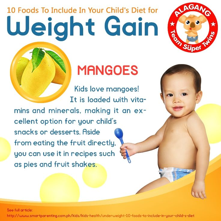 12 Best 10 Foods To Include In Your Childs Diet For Weight Gain