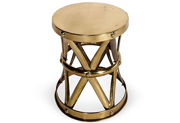 Brass Side StoolHollywood Glamour, Victoria Design, Design Ideas, Decor Details, Side Stools, Kelly Wearstler, Brass Side, Tropical Hollywood