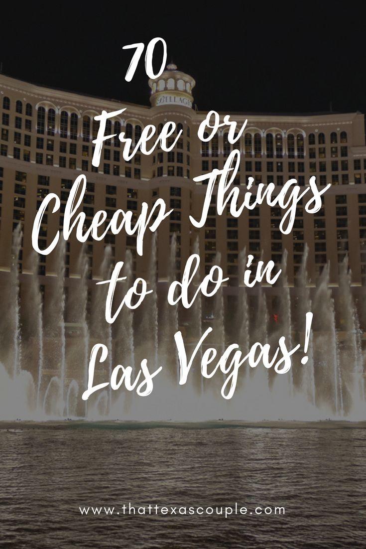 Planning a trip to Las Vegas?  Don't miss our list of 70 Free or Cheap Things to do in Las Vegas!  #lasvegas #budgettravel #visitlasvegas #lasvegasforcheap #couplestravel #vegas via @https://www.pinterest.com/thattexascouple