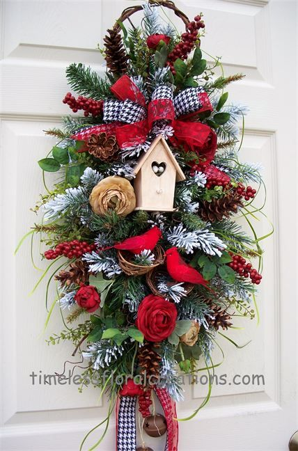Swag for virginia 007 wreaths and swags pinterest for California floral and home christmas decorations