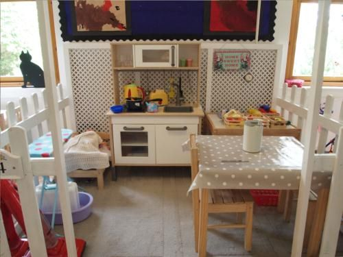 Love the ikea kitchen and use of white accent lattice