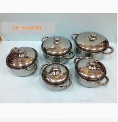 PANCI SET VAVINCI 5 PCS Cooking Pot Stainless Steel