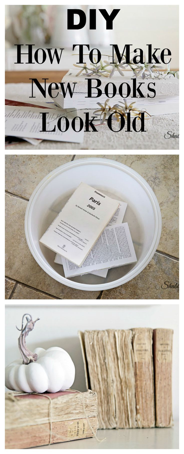 how to make new books look old #books #diy #bookproject #paper #frenchstyle