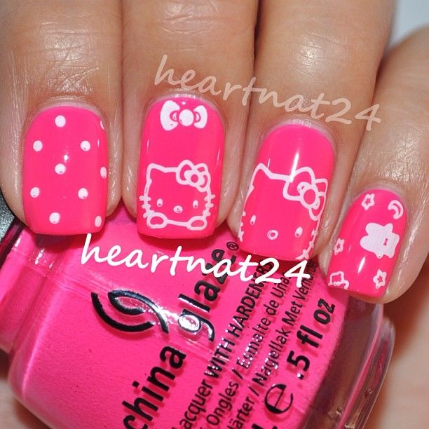 43 Best Nails Images On Pinterest Nail Scissors Hello Kitty Nails