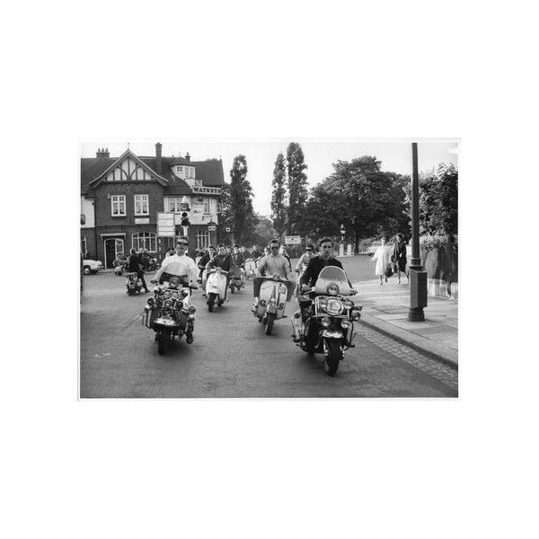'Mods' on scooters; 1964 found on Polyvore