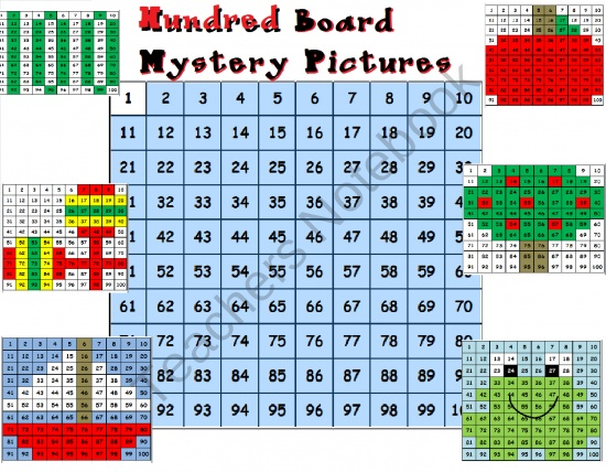 Hundred Board Mystery Pictures product from Teacher-Helper on TeachersNotebook.com