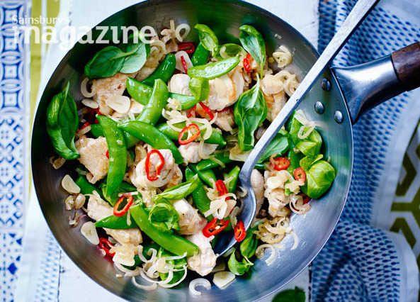 Thai turkey stir-fry with chilli and basil recipe | Homemade