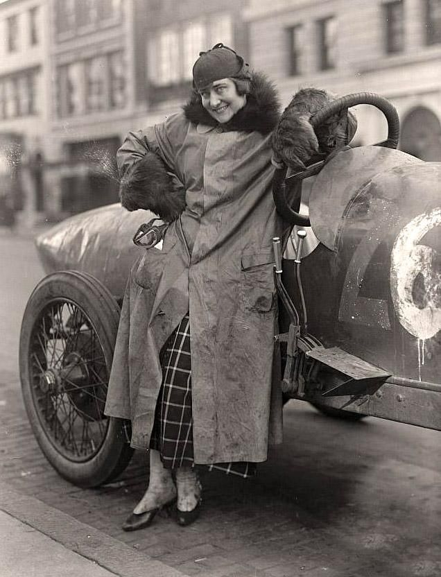 Woman race car driver in the '20's
