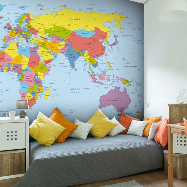 34 best stunning map wall murals images on pinterest murals make your playroom educational with a vibrant map mural available made to measure gumiabroncs Gallery