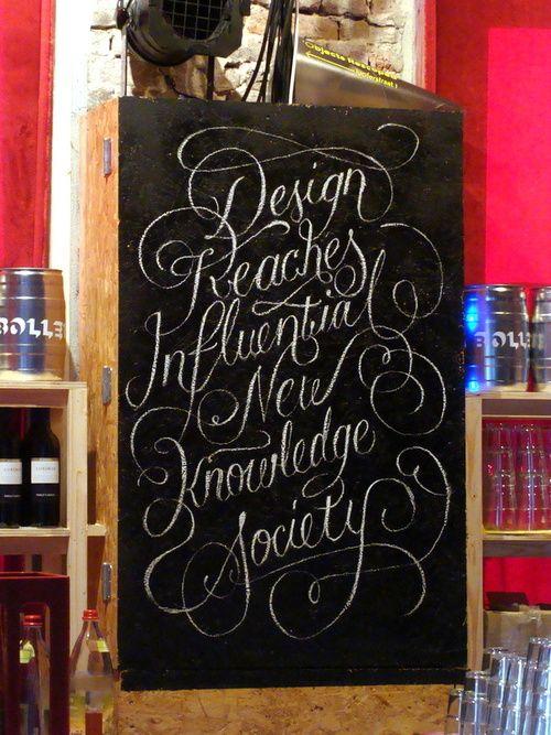 Typeverything.com - Custom chalk lettering at the La Bolleur club byNiels Bakkerus.