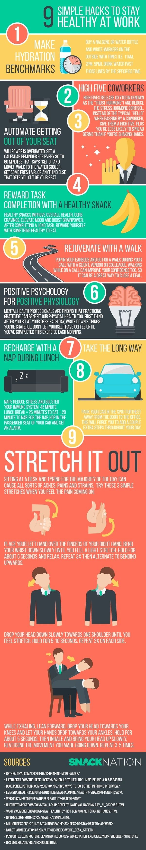 Top tips to staying stress free in the workplace infographic - Many Of Us Have To Spend 8 Or More Hours At Work On A Weekly Basis You Wouldn T Want Your Work To Affect Your Health Though This Infographic From
