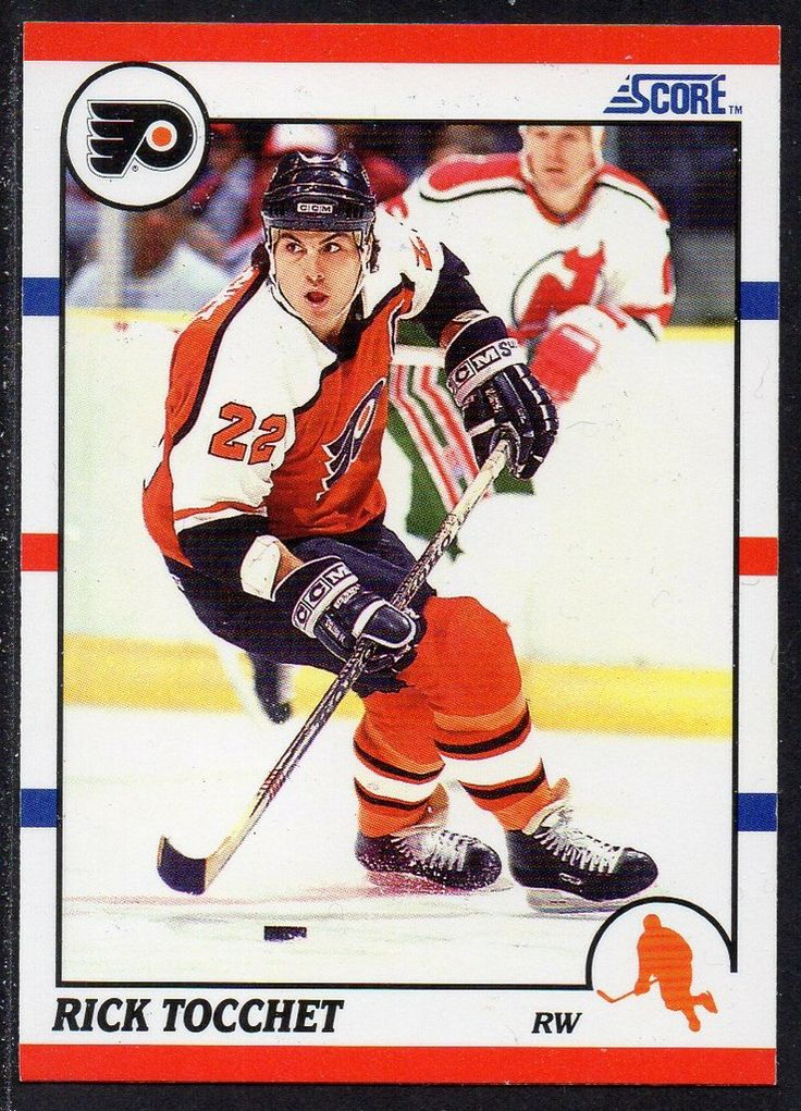 #80 Rick Tocchet (1990-1991) - Score Ice Hockey card. New on http://colnect.com/sports_cards