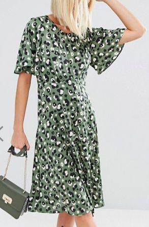 ASOS Midi Tea Dress in Animal Print    TrufflesandTrends.com