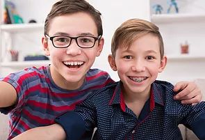 Braces for children - Traditional braces have come a long way over the years, becoming sleeker, smaller and more comfortable. And that's something to smile about!     Dental braces can correct crooked and crowded teeth, a misaligned bite and jaw problems.Braces also eliminate problems you may have with eating, speaking properly or with keeping your teeth clean.