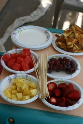 I like the skewers for fruit, keeps grubby camping fingers out of your kiddos mouths!
