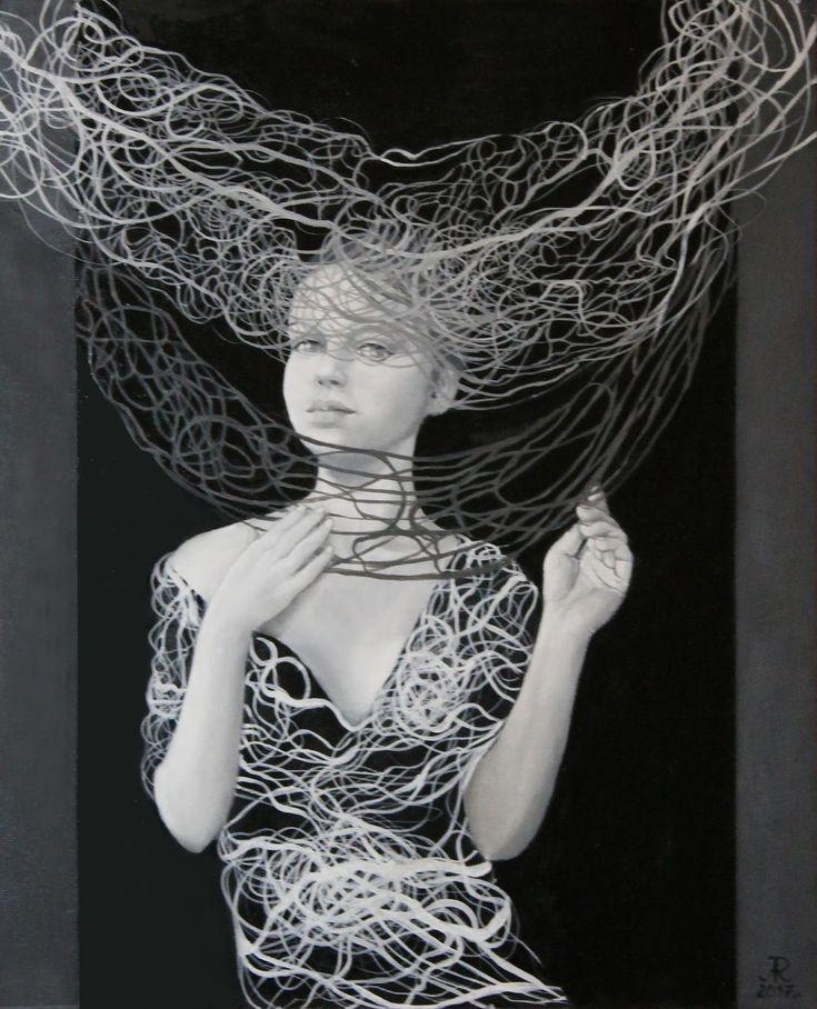 """Anna Rączka ,,Zaczekam"""" - olej na panelu 46 x 55 cm Image"""