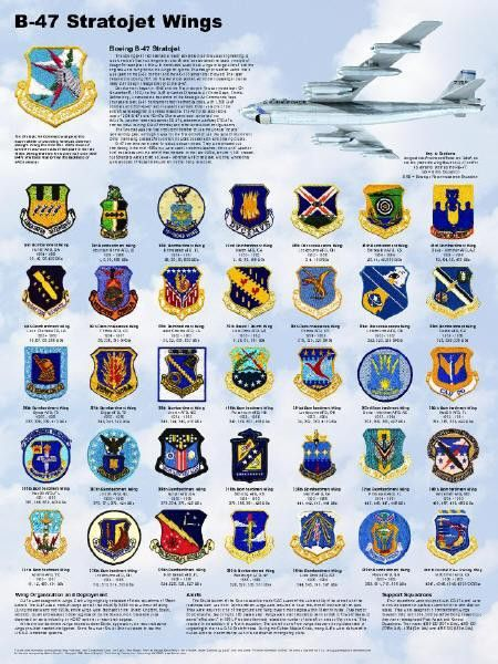 Strategic Air Command Wing Poster B-47 Stratojet Wings Poster 18 x 24 We are proud to present this poster honoring the men and units that won the cold war. Each poster commemorates the bombardment and