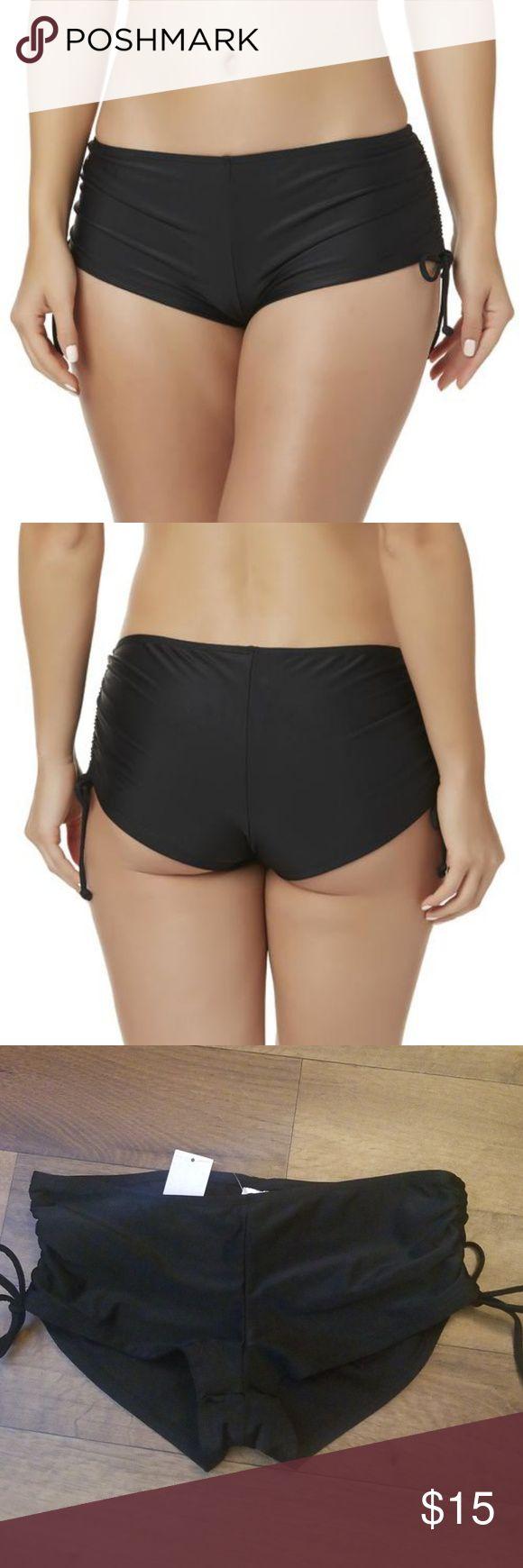 short bottoms boy Shirred bikini