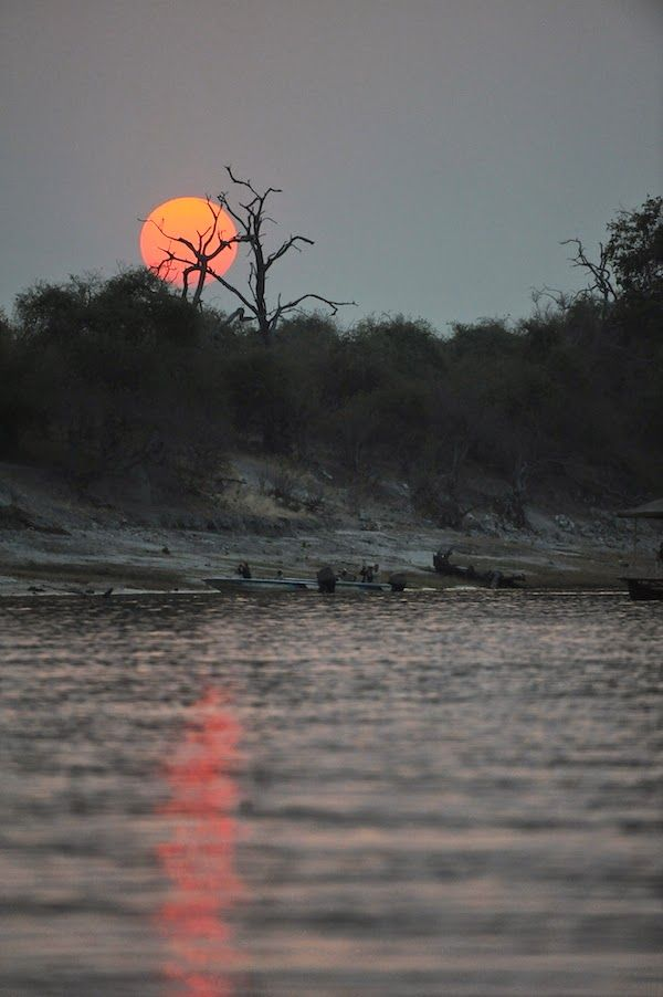 Sunset over Chobe river in Botswana - photograph not edited, only cropped to resize