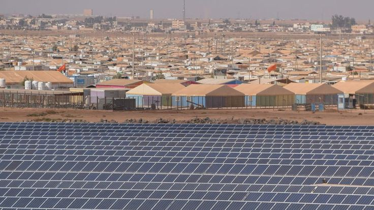 A German-built solar power facility is helping to improve life for residents of the Zaatari Syrian refugee camp and other camps in Jordan through clean energy.