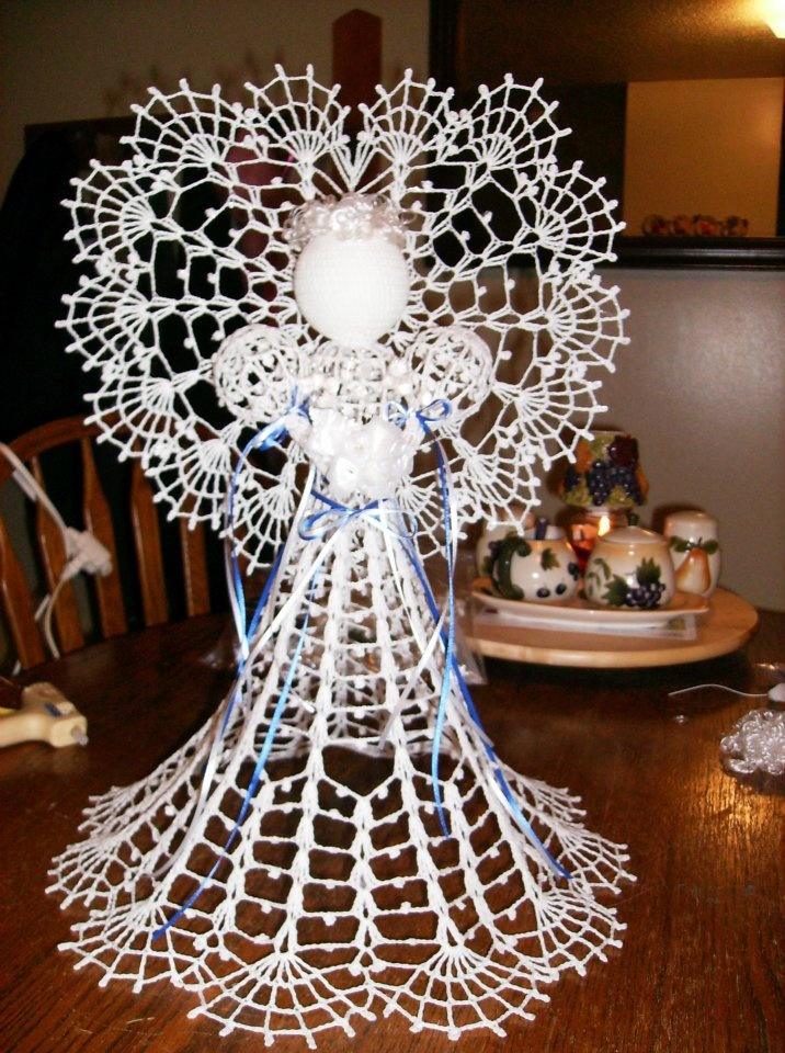 Crochet Master Angel....She is 16 inches tall.