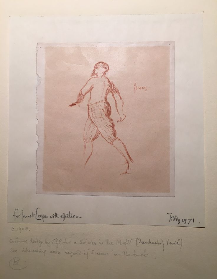 Costume for character by Edward Gordon Craig