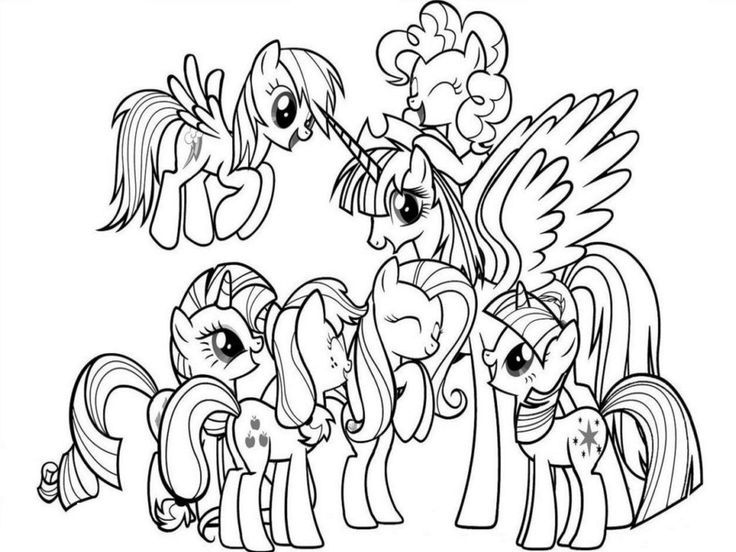 216 best images about My Little Pony Coloring Pages on ...