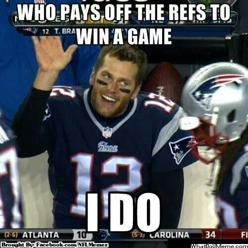 """Cheating again! Deflating footballs!  Can you say """"Liar?"""" Or how about """"Asshole?""""  You've been given a gift to be able to start the season, but don't think this is over.  They were on to you with your immediate defiance to turn over your phone. You know, the one you threw away ASAP!   It's not over Tommy Boy.  Once a cheater, always a cheater."""
