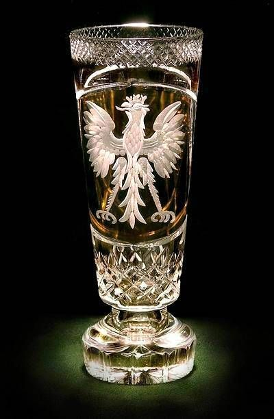 Polish Eagle Crystal Vase