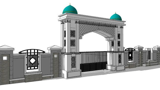 Desain Pagar Masjid Minimalis - Rumah Joglo Limasan Work