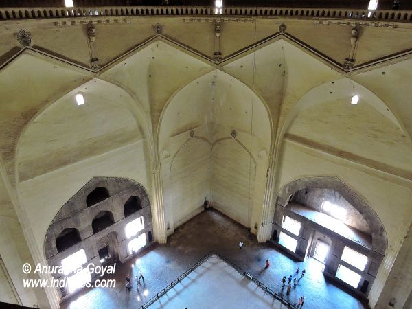 View of the heritage monument from the top of the 7 story dome, Gol Gumbaz