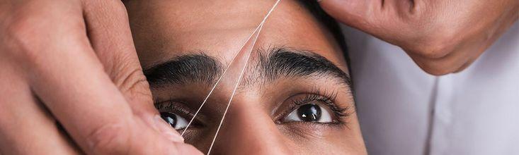 Men's Eyebrow Threading for only $6