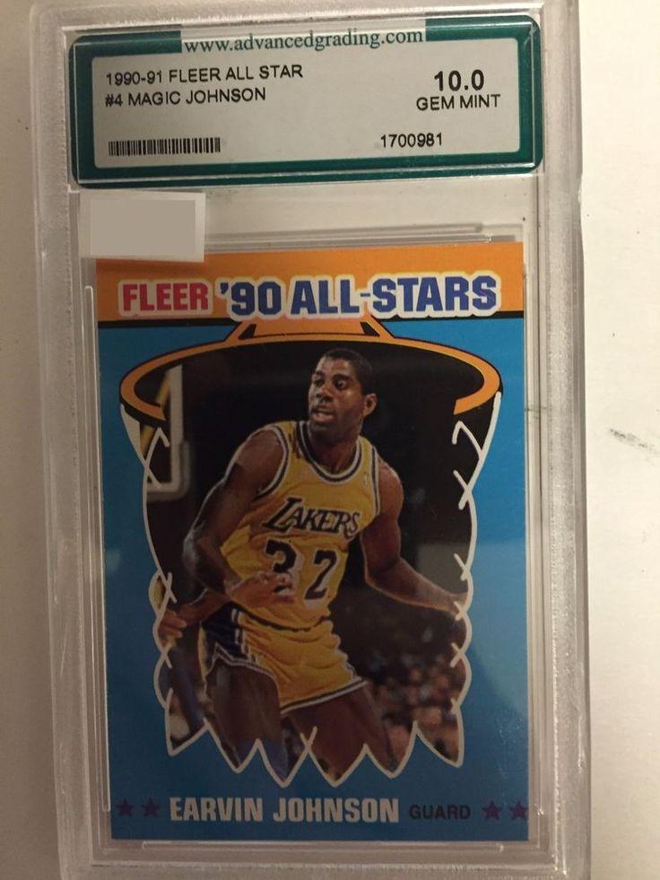 19901991 fleer 90 allstars 4 magic earvin johnson 100